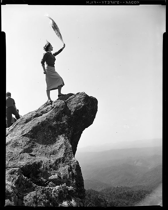 Woman at The Blowing Rock