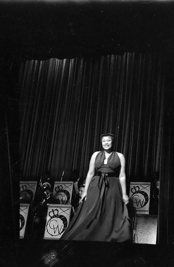 Ella Fitzgerald with the Chick Webb Orchestra, at the Howard Theatre in Washington, DC.
