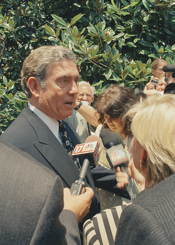 Dan Rather. Photograph by Hugh Morton, as cropped by the editor.
