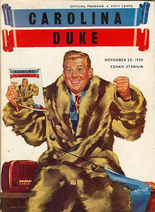 Stadium program for the 1950 Duke versus University of North Carolina football game (Courtesy Jack Hilliard).