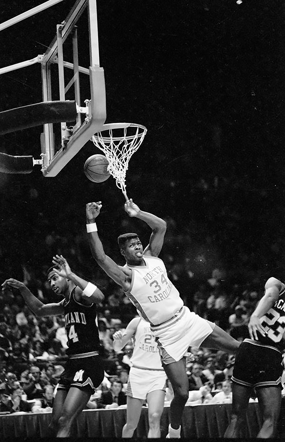 Action during UNC versus Maryland in 1987 ACC Tournament
