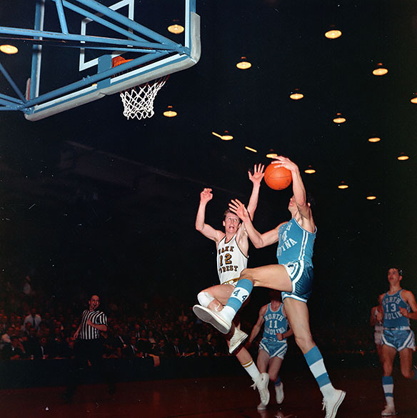 UNC versus Wake Forest during 1967 ACC Tournament