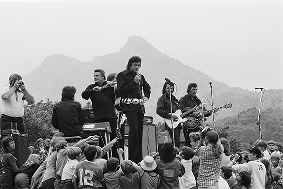 Johnny Cash during 1974 Singing on the Mountain