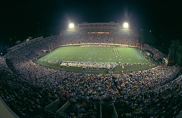 Kenan Stadium during Texas versus UNC football game