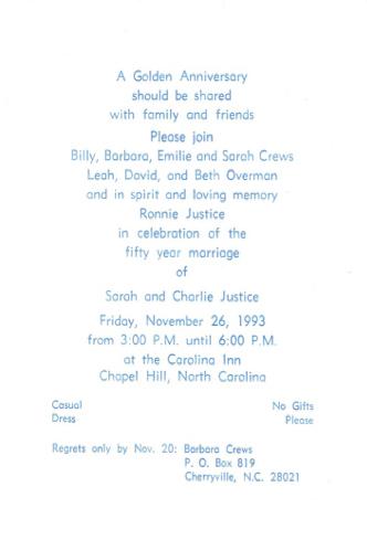Invitation to Justice's 50th anniversary