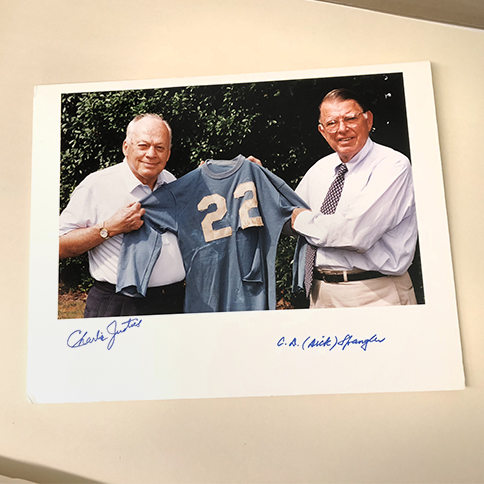 Justice and Spangler autographed photograph