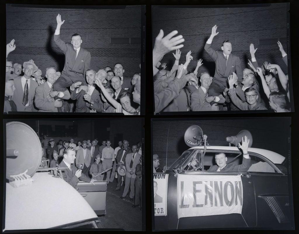 Alton Lennon campaigning