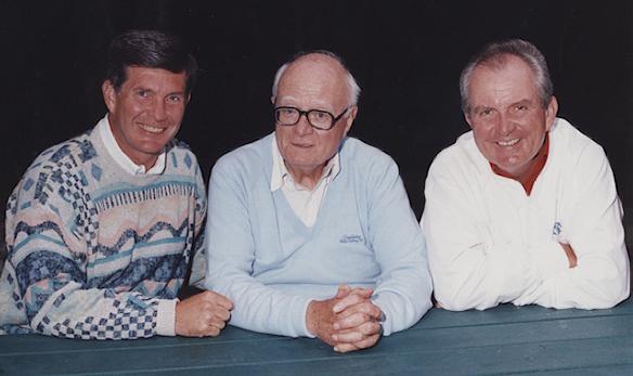Mack Brown, Hugh Morton, Woody Durham