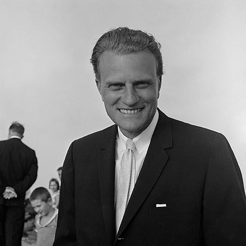 Billy Graham, portrait by Hugh Morton, 1962.
