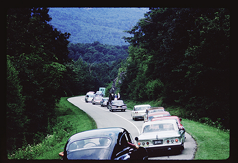 Singing on the Mountain traffic August 1962
