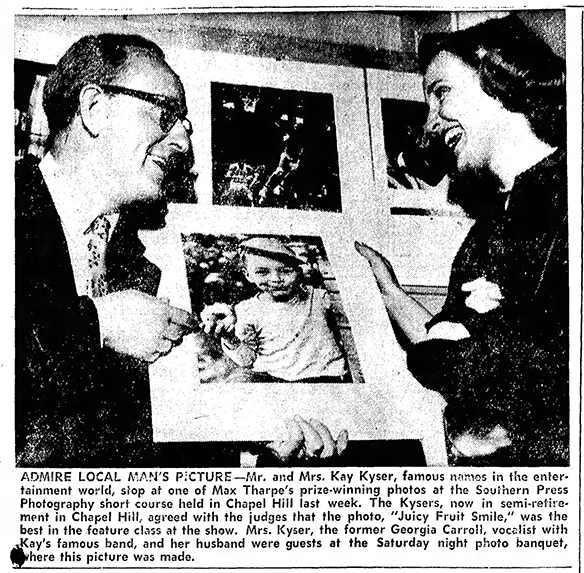 Clipping from the Statesville Daily Record, 18 April 1951