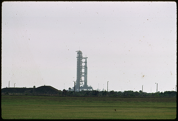 Apollo 11 rocket on launchpad