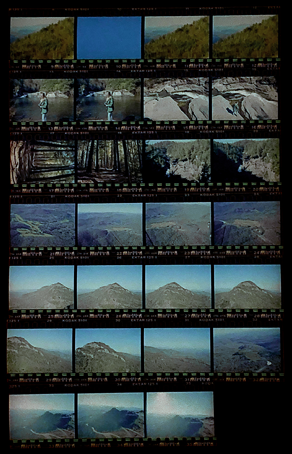 Hugh Morton's negatives made during location scouting.