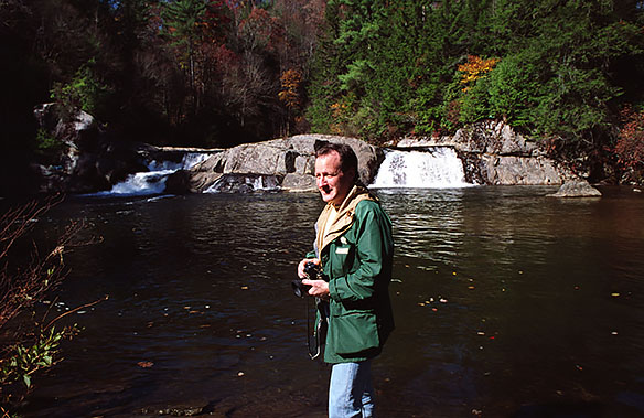 Michael Mann during his scouting trip of the Linville River.