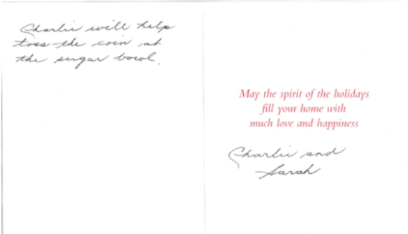 Christmas card from Justices