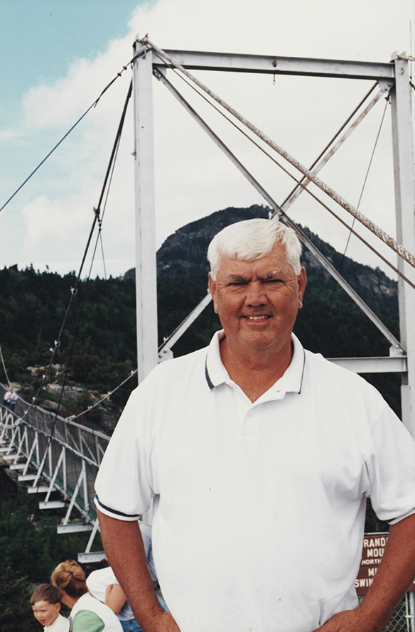 Junior Johnson at the Mile High Swinging Bridge