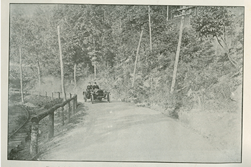 Image of car on dirt road