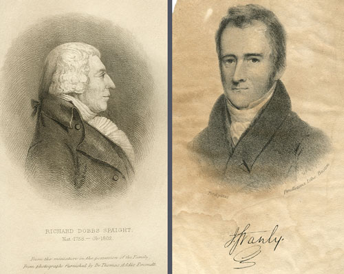 Portraits of Spaight and Stanly