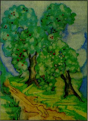 Watercolor by Zelda Fitzgerald