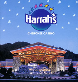 Harrah's Cherokee Casino, 2000. Detail from a brochure in the North Carolina Collection Swain County Ephemera Collection.