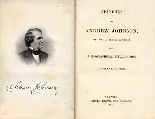 Speeches of Andrew Johnson