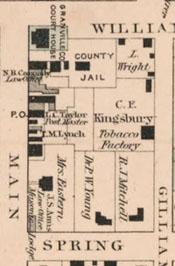 Gray's New Map of Oxford, Granville County, North Carolina