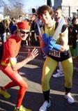 Dressed as Superheroes
