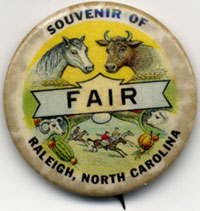 State Fair button from Lew Powell Collection in NC Collection Gallery