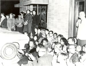 Demonstration at Brady's Restaurant, Chapel Hill, February 11, 1964