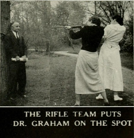 The Rifle Team Puts Dr. Graham on the Spot