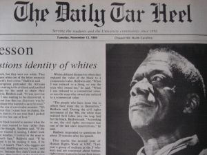 James Baldwin in Daily Tar Heel