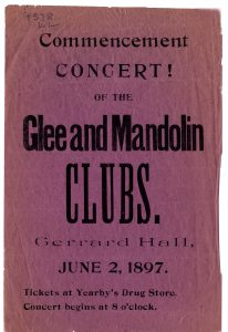 Glee and Mandolin Club Poster