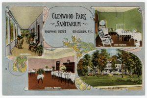 Glenwood Park Sanitarium postcard