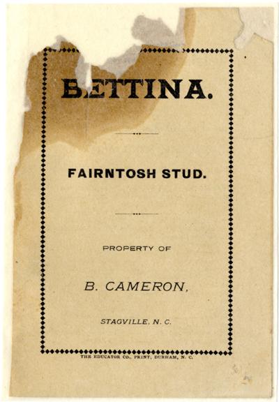 Bettina ad, p. 1