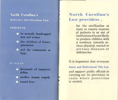 Page from Human Betterment League pamphlet