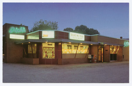 Postcard of Dick's Hot Dogs