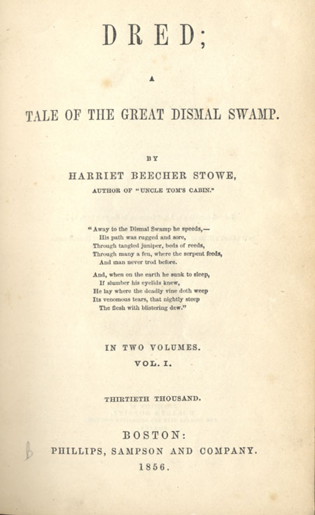 Title page of Dred