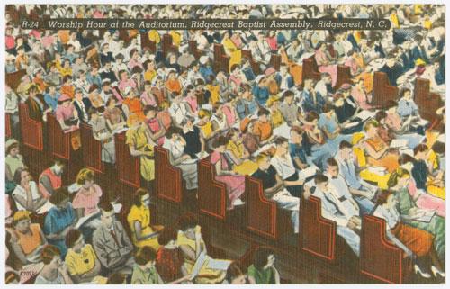 Ridgecrest Worship Hour postcard