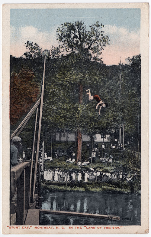 Stunt Day at Montreat postcard