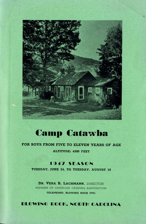Camp Catawba pamphlet cover