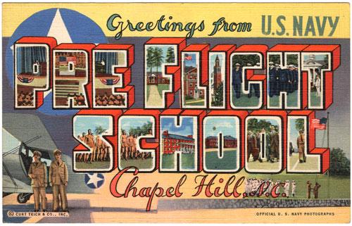 Naval Pre-Flight Postcard