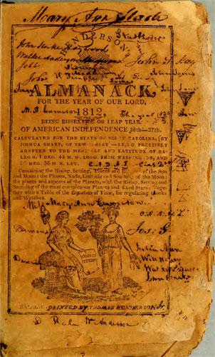 Henderson's 1812 Almanack title page
