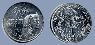 Cleopatra Mardi Gras doubloons
