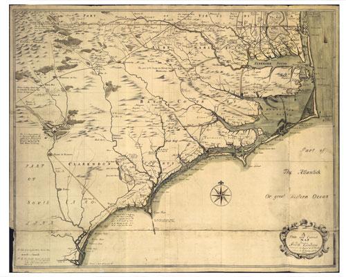 Moseley manuscript map
