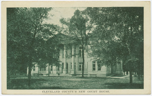 Postcard of Cleveland County Courthouse