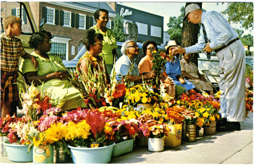 Robert House with Chapel Hill flower ladies
