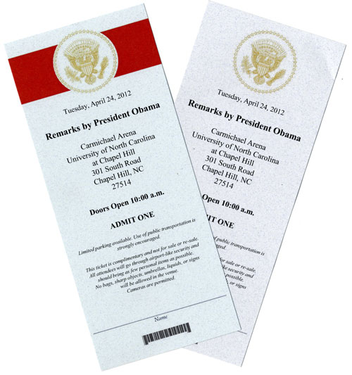 Tickets to Obama speech