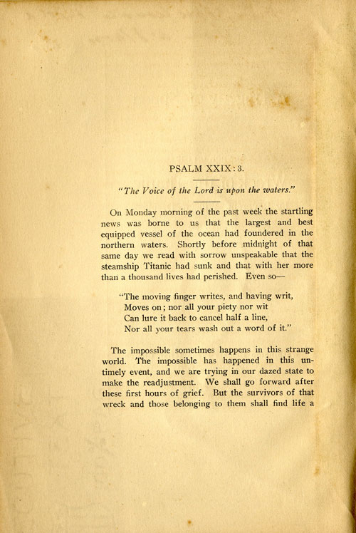 First page of A Tragedy of Speed sermon