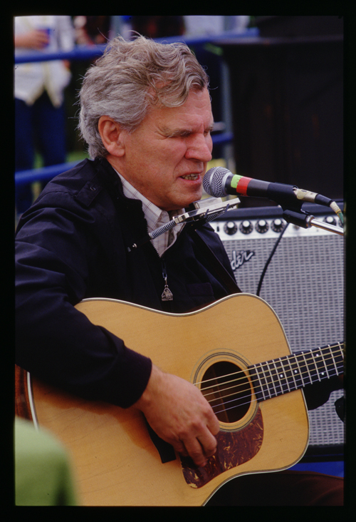 Doc Watson at dedication of Linville Viaduct