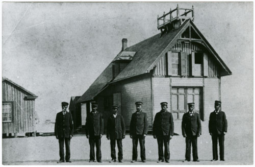Postcard of crew of Pea Island Life Saving Station